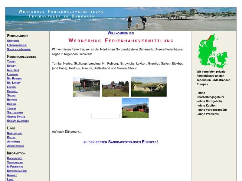 Screenshot von http://www.wernerhus.de